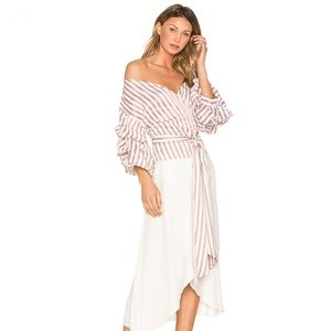 Alexis Armelle Red White Striped Top